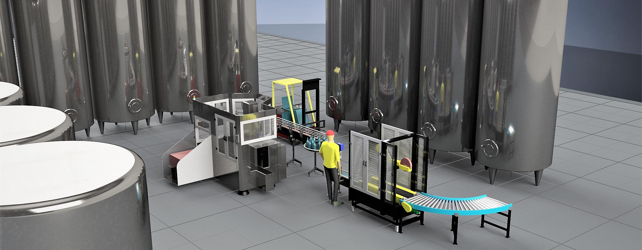 Industria 4.0 - Cantina 4.0 - Linea Imbottigliamento - Vino