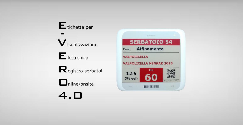 E-VERO 4.0 - Lavagne Etichette Elettroniche - aggiornamento e visualizzazione elettronica dei dati dei Vasi Vinari
