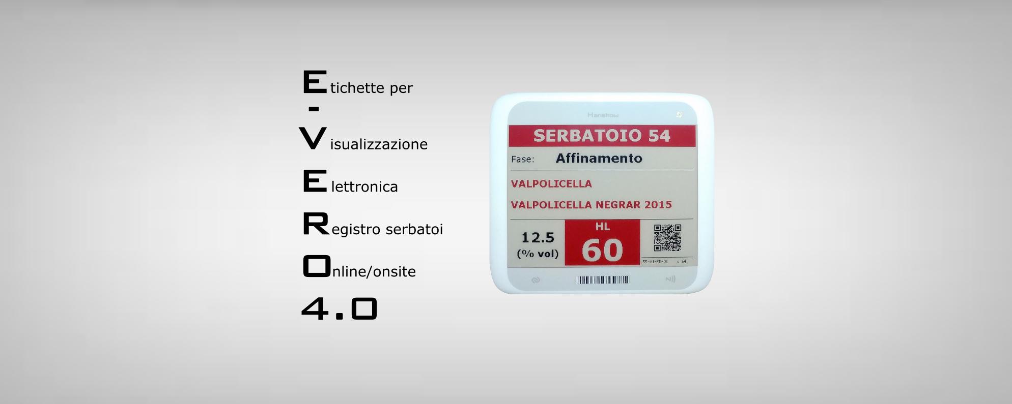 E-VERO - Etichette Elettroniche per Cantine - serbatoi Vino