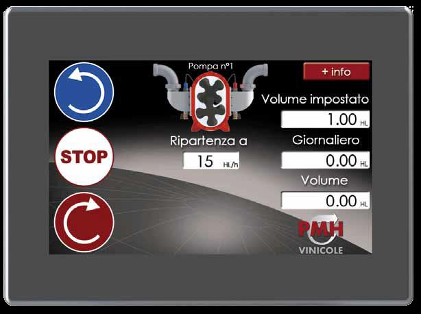 Oenopompe - touchscreen 7 pollici Pompa a Lobi