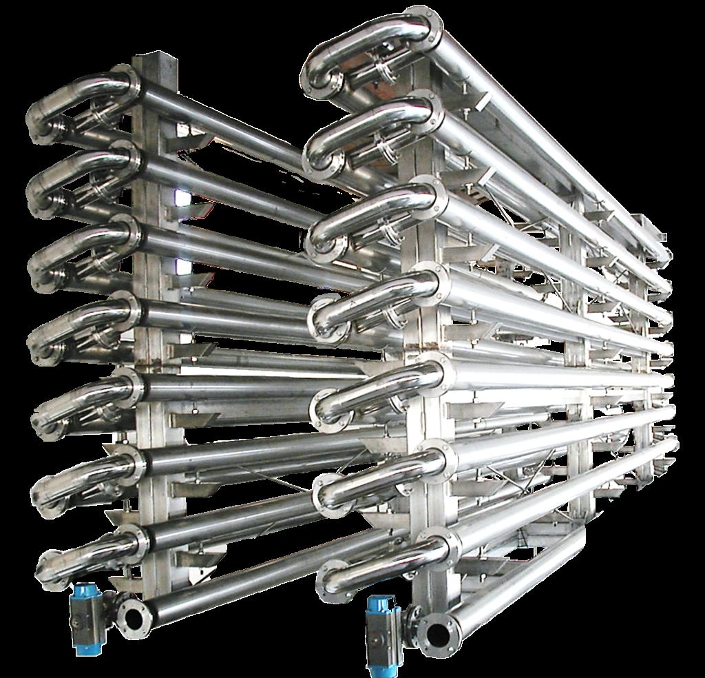 condizionamento termico - tubo in tubo - Cantina 4.0